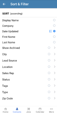 Mobile App - Sort Filter-1