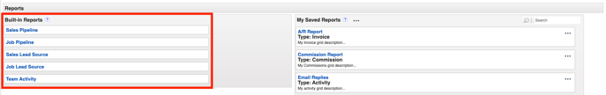 Built-in Reports - Where to find Reports