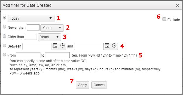 Custom Report Filter Date