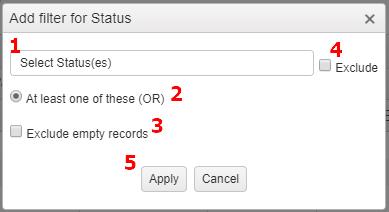 Custom Report Filter List