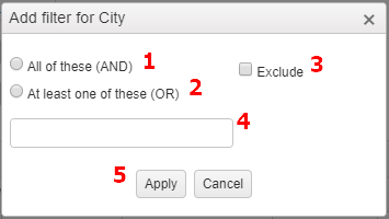 Custom Report Filter Text Field