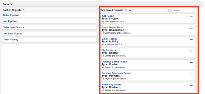 Custom Reports - Where to find Reports