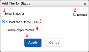 Custom Reports - List Filter Numbered