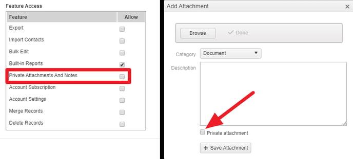 Access Profile Edit Private Attachment