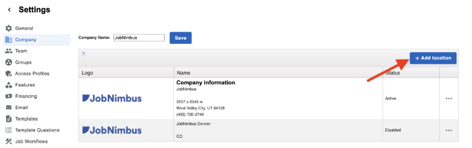 Company - Add Location