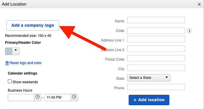 Copmany Info - How to add a company logo