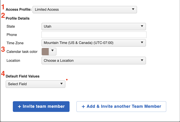 Team Member - Add Team Member More Options