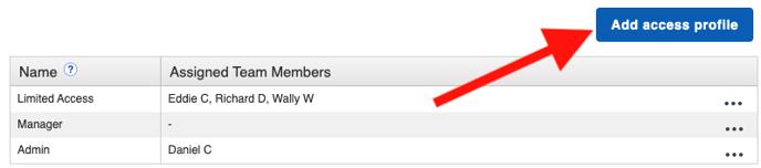 Settings - Access Profile Add