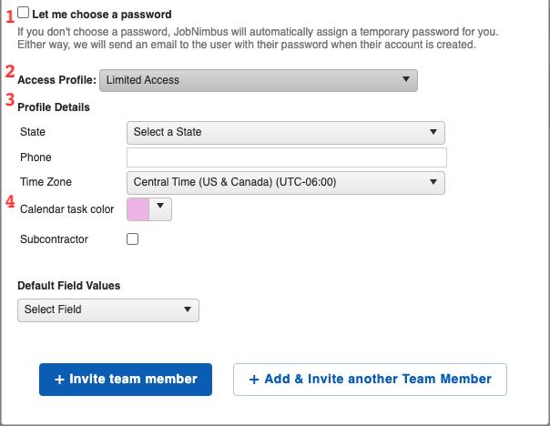 Settings - Team Add Team Member More Options