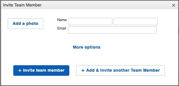 Settings - Team Add Team Member