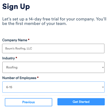 Subscription - Create Trial Account part2