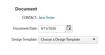 Document Choose Template