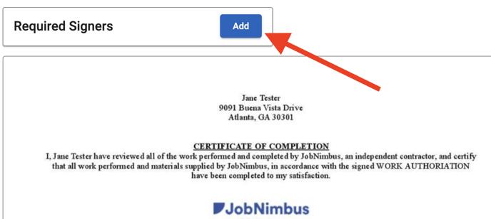 Document Templates - Signature