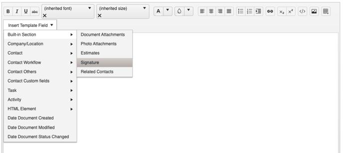 Document Template - Builder Signature Field