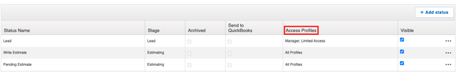 advanced workflows access profile edit workflow