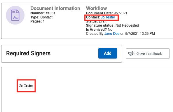 contact temp field display name