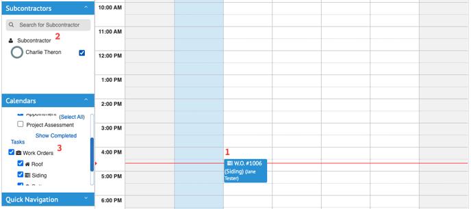 Work Orders - Calendar