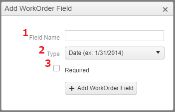 Work Orders Add Custom Fields
