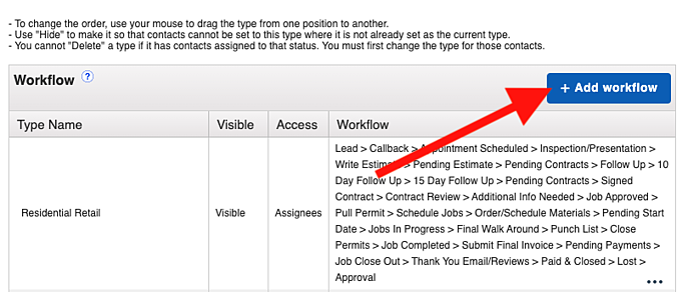 Workflow - Add Workflow