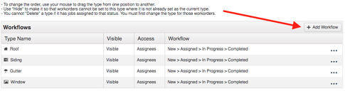 Work Order Workflow Add Workflow