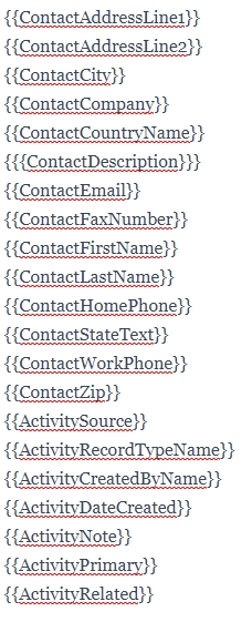 email shortcodes